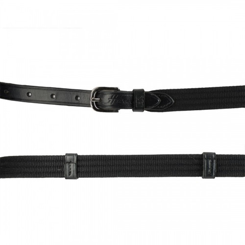 Harmohn Kraft Web with Leather Strap Belt- 5/8 Inch Wide