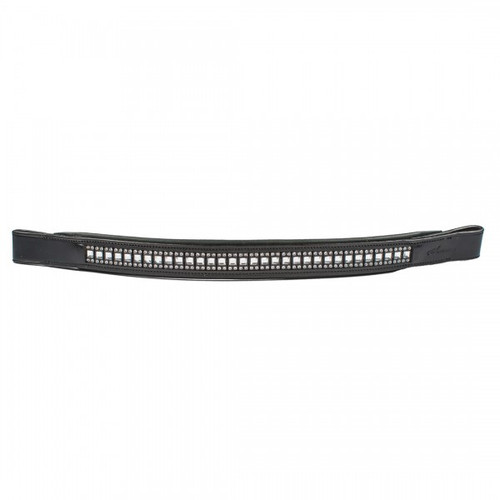 Aramas® Queen Padded 1 Inch Wide Browband with Swarovski™ Crystals