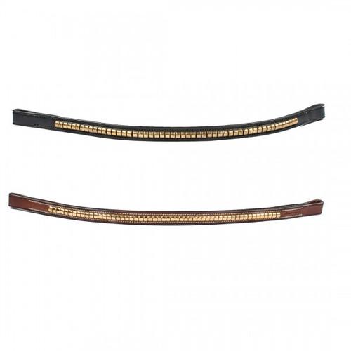 HK Americana Brass Clincher Browband