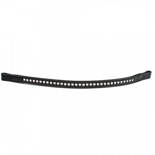 HK Aristocrat Square Crystal Browband- 5/8 Inch Wide