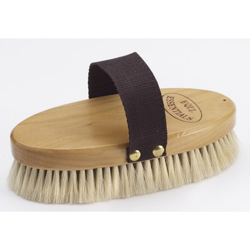 Wood Back Body Brush with Goat Hair