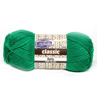 Cast On Classic 8ply Kelly Green - 10 pack | Prices Plus