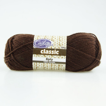 Cast On Classic 8ply Chocolate - 10 pack | Prices Plus