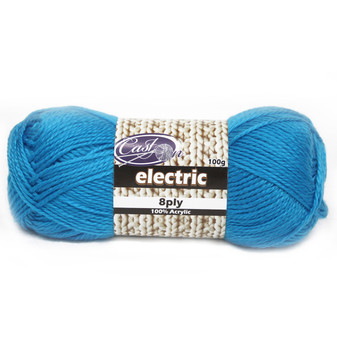 Cast On Electric 8ply Blue - 10 pack | Prices Plus