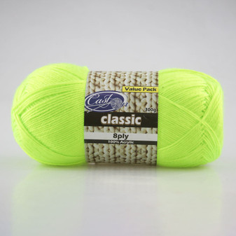 Cast On Electric 8ply Yellow 300g - 10 pack | Prices Plus
