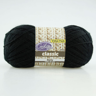Cast On Classic 8ply Jet 300g  - 10 pack | Prices Plus