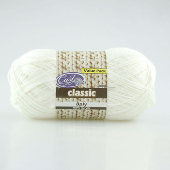 Cast On Classic 8ply Snow 300g  - 10 pack | Prices Plus