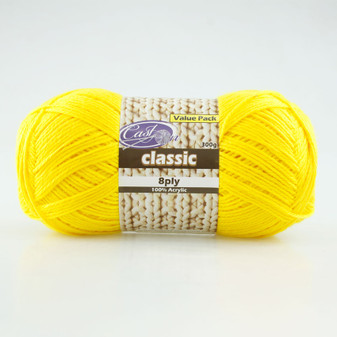 Cast On Classic 8ply Daffodil 300g  - 10 pack | Prices Plus
