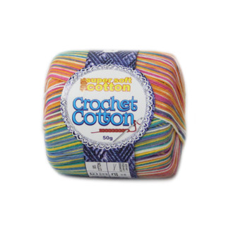 Crochet Cotton Multicolour Sprinkles - 50g - Pack of 10 | Prices Plus