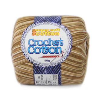 Crochet Cotton Multicolour Iced Coffee 50g - Pack of 10 | Prices Plus
