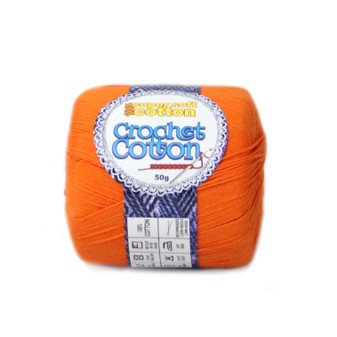 Crochet Cotton Tangerine 50g - Pack of 10 | Prices Plus
