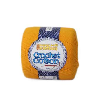 Crochet Cotton Saffron 50g - 10 Pack | Prices Plus