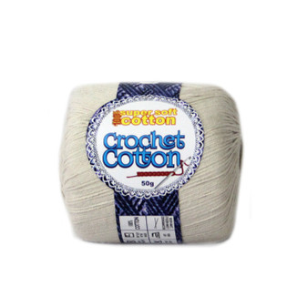 Crochet Cotton Natural 50g - 10 Pack | Prices Plus