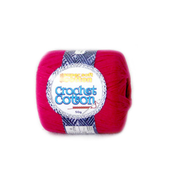 Crochet Cotton Fuschia 50g - 10 Pack | Prices Plus
