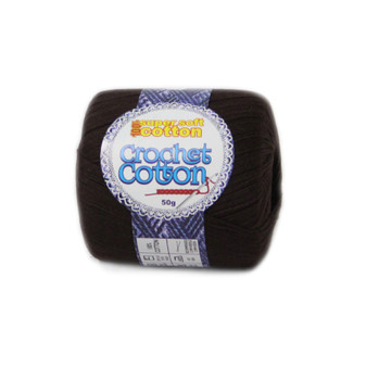Crochet Cotton Chocolate 50g - 10 Pack | Prices Plus
