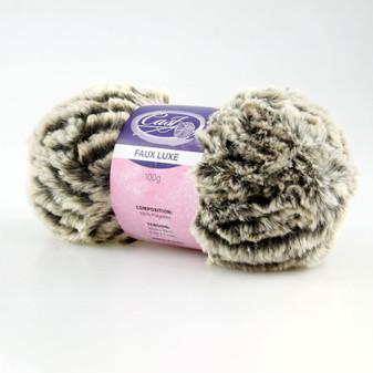 Cast On Faux Fur Knitting Yarn 100 gram Black/White - 10 pack | Prices Plus