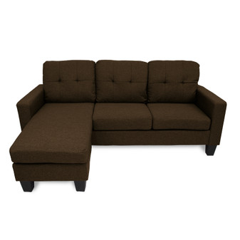 Home Storage & Living Jasper Reversible Corner Sofa - Chocolate | Prices Plus
