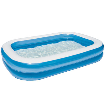 Family Pool: Blue Rectangle Large | Prices Plus