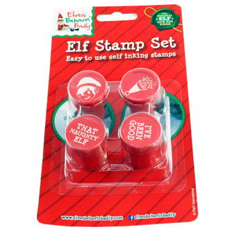 Elves Behaving Badly Stamp Set 4PK | Prices Plus