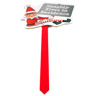 Elves Behaving Badly Naughty Elf Sign | Prices Plus