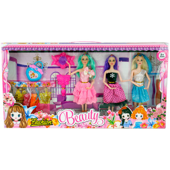 3 Dolls Set With Accessories | Prices Plus