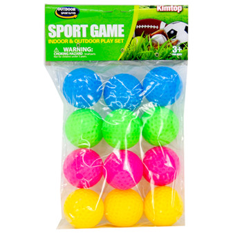 Coloured Golf Balls 12PK | Prices Plus