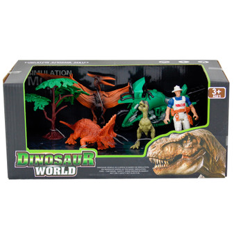 Dinosaur World Action Figures with Motor Bike | Prices Plus