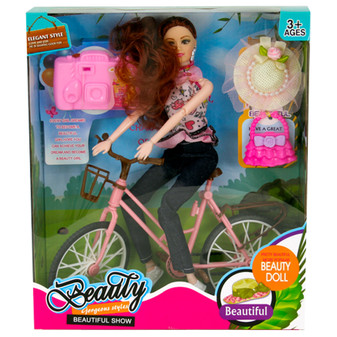 Beauty Doll with Bike | Prices Plus