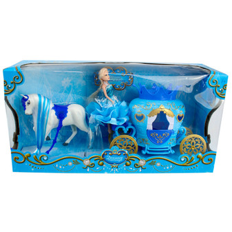 Blue Dreamy Horse and Carriage Set | Prices Plus
