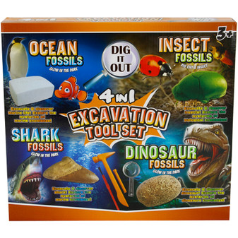 Fossil Excavation Tool Set Ocean/ Insect | Prices Plus