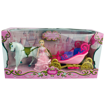 Pink Dreamy Horse and Carriage Set | Prices Plus