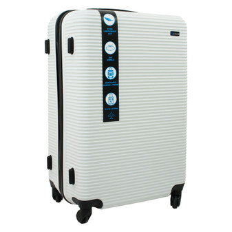 ABS Suitcase 70cm - White | Prices Plus