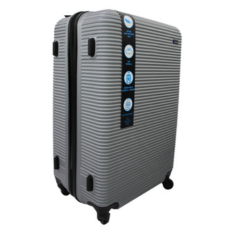 ABS Suitcase 70cm - Silver | Prices Plus