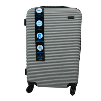 ABS Suitcase 60cm - Silver | Prices Plus