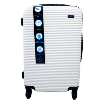 ABS Suitcase 60cm - White | Prices Plus