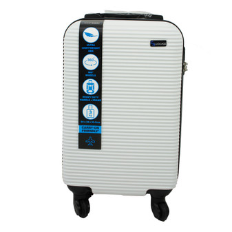 ABS Suitcase 50cm - White | Prices Plus