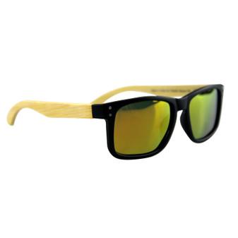 Polarised Bamboo Sunglasses Adult Green | Prices Plus