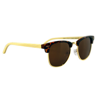 Polarised Bamboo Sunglasses Adult Tortoise Shell | Prices Plus