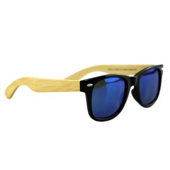 Polarised Bamboo Sunglasses Adult Blue | Prices Plus
