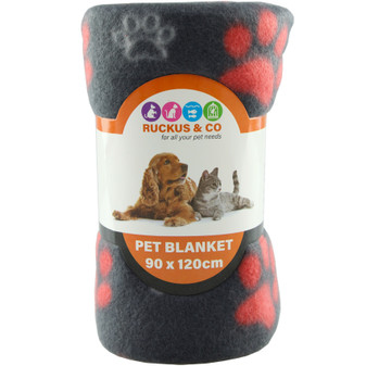 Ruckus & Co Paw Print Pet Blanket | Prices Plus