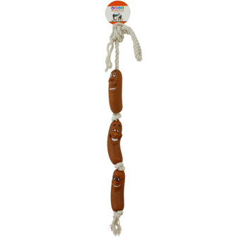 Ruckus & Co Rope Sausage Dog Squeaky Toy | Prices Plus