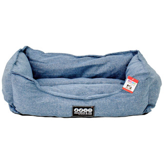 Ruckus & Co Linen Pet Bed Blue | Prices Plus
