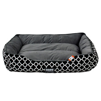 Ruckus & Co Canvas Pet Bed Black - Large | Prices Plus