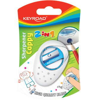 Keyroad Cappy 2 in 1 Sharpener and Eraser | Prices Plus