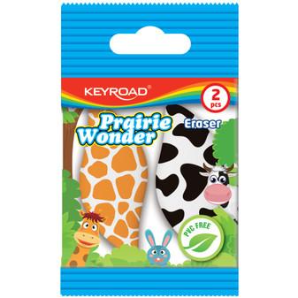 Keyroad Safari Printed Erasers | Prices Plus
