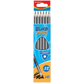Keyroad Triangular Graphite Pencils With Eraser | Prices Plus