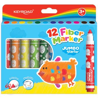 Keyroad Jumbo Washable Markers 12PK