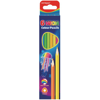 Keyroad Neon Coloured Pencils 6PK | Prices Plus