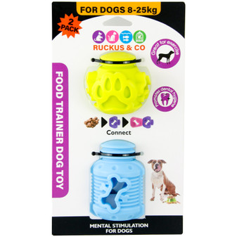 Ruckus & Co Food Trainer Dog Toy 2PC | Prices Plus