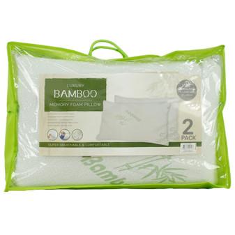 Bamboo Memory Foam Pillow 2PK | Prices Plus
